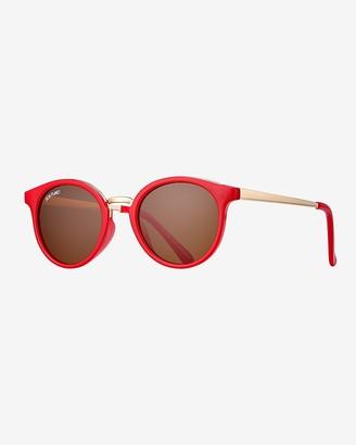 Express Blue Planet Eco-Eyewear Lucca Round Polarized Sunglasses