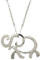 Lord & Taylor 14Kt. White Gold and Diamond Elephant Pendant Necklace