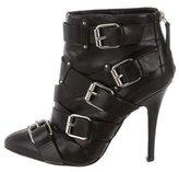 Giuseppe Zanotti x Balmain Leather Buckle-Embellished Booties