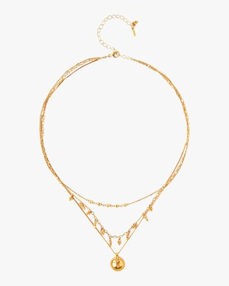 Chan Luu Coin Charm Layered Necklace