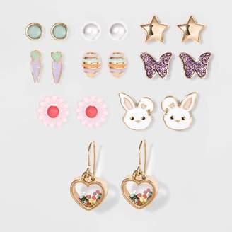 Cat & Jack Girls' 9pk Easter Stud Earrings - Cat & JackTM