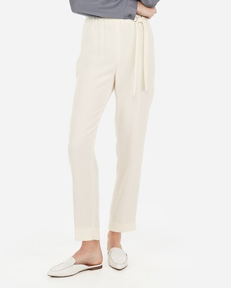 Express High Waisted Tie Waist Ankle Pant