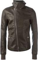 Rick Owens funnel neck biker jacket
