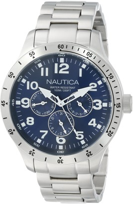 Nautica Men's N14672G BFD 101 Silver-Tone Stainless Steel Bracelet Watch