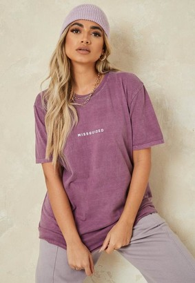 Missguided Wine Oversized T Shirt