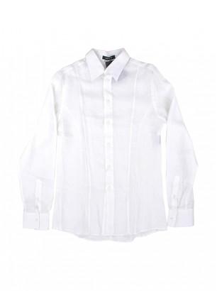 Versace White Linen Shirts