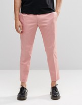 Religion Skinny Cropped Trousers In Pink