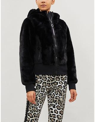 GOLDBERGH Sunna reversible faux-fur and shell jacket