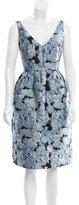 Erdem Embroidered A-Line Dress