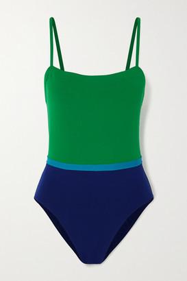 Eres Costa Rica Ara Color-block Swimsuit - Green