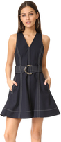 Diane von Furstenberg Sleeveless D Ring Flare Dress