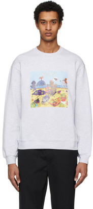 MSGM Grey Cartoon Print Sweatshirt