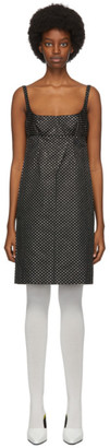 Marc Jacobs Black Polka Dot Glitter Mid-Length Dress