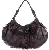Prada Vitello Ruffle Hobo