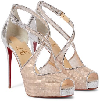 Christian Louboutin Mariacar 120 leather and mesh sandals