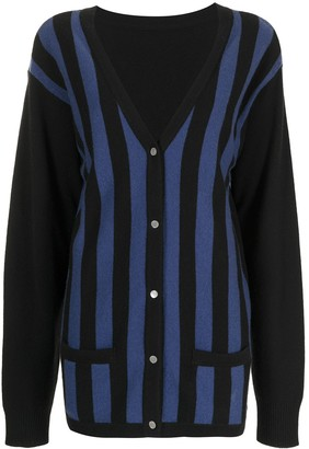 Cynthia Rowley Maya striped cardigan