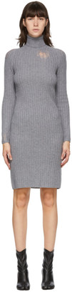 Maison Margiela Grey Destroyed Turtleneck Dress