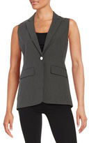 Andrew Marc Striped One-Button Vest