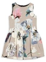 Milly Minis Toddler's & Little Girl's Floral Printed Drop-Waist Dress