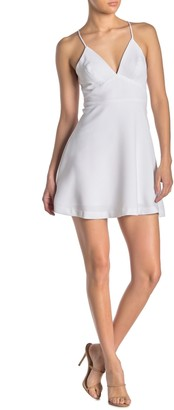 BCBGeneration Cross Back Fit & Flare Mini Dress