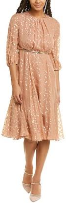 Max Mara Opunzia Silk-Blend Midi Dress