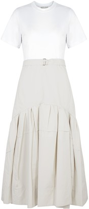 3.1 Phillip Lim Two-tone Cotton-blend Midi Dress