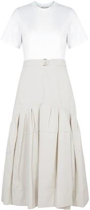 3.1 Phillip Lim Two-tone cotton-blend midi dress