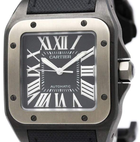 Cartier Santos 100 W2020010 Titanium Automatic 38mm Mens Dress Watch