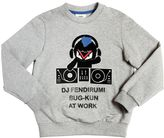 Fendi Flocked Printed Cotton Sweatshirt