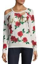Chaser Floral Cold Shoulder Sweatshirt