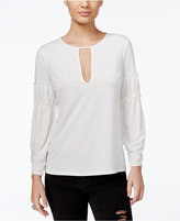 GUESS Micah Keyhole Peasant Top