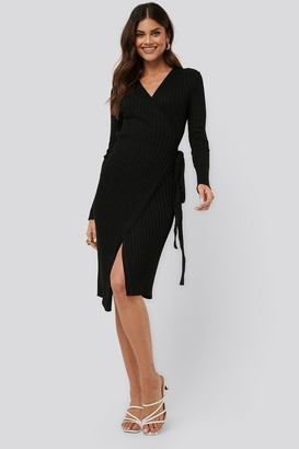 NA-KD Tie Front Knit Dress