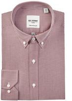 Ben Sherman Long Sleeve Skinny Fit Twill Check Dress Shirt