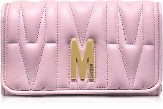 Moschino Quilted Leather Wallet Shoulder Bag
