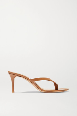 Gianvito Rossi Calypso 70 Leather Sandals - Tan