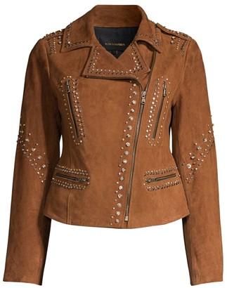 Kobi Halperin Veronica Embellished Suede Jacket