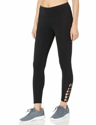 Betsey Johnson Women's Strappy Looped Medium Rise 7/8 Legging