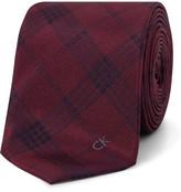 Calvin Klein Check Logo Tie