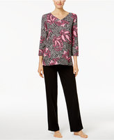 Charter Club Printed Top and Pants Pajama Set, Only at Macy's