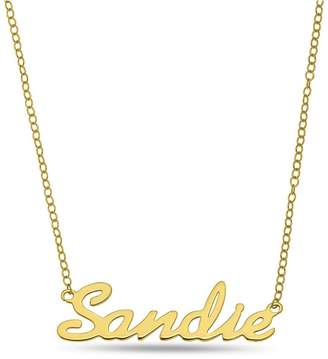 Love Gold Personalised 9ct Gold Name Necklace