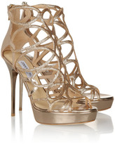 Jimmy Choo Blast glitter-finished patent-leather sandals
