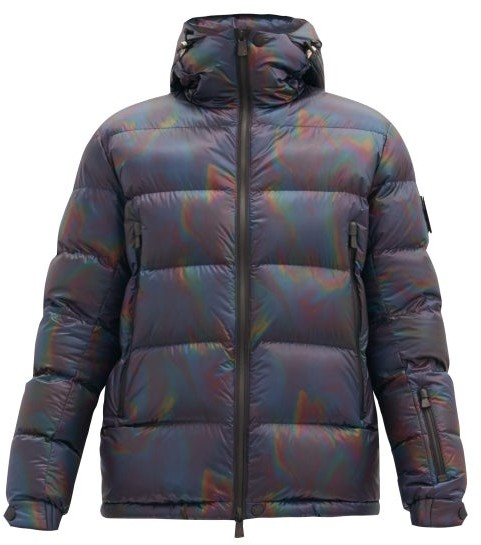 Hmarkt Men Fashion Thicken Padded Quilted Thermal Striped Removable Hooded Puffer Jacket