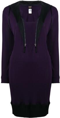 Jean Paul Gaultier Pre Owned Zipped Collar Sweater Dress