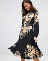 New Look High Neck Floral Bloom Midi Dress