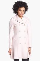 Ted Baker London Wool Blend Peplum Hem Coat (Online Only)
