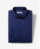 Express classic fit micro dot dress shirt