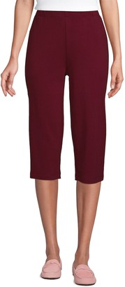 Lands' End Women's Sport High Waist Pull-On Capri Pants