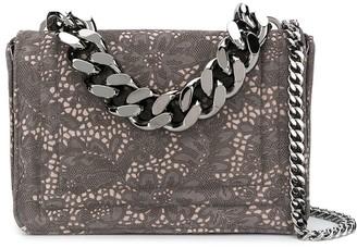Casadei Floral Embroidery Shoulder Bag