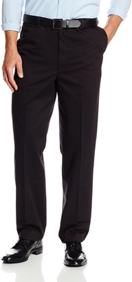 Savane Men's Big & Tall Wrinkle Free Flat Front Twill Pant
