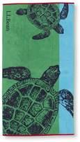 L.L. Bean L.L.Bean Seaside Beach Towel, Turtles